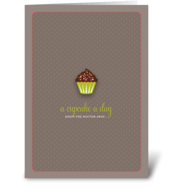 Sassy Cupcake greeting card