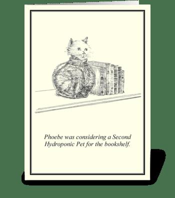 Hydroponic Pet greeting card