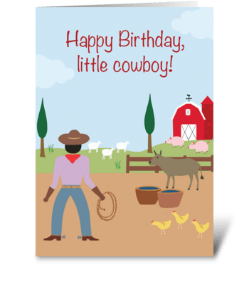 Little Cowboy BIrthday greeting card