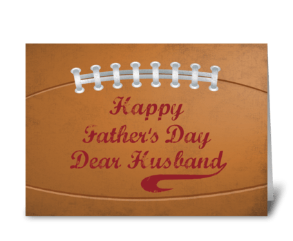 Husband Father's Day Large Football greeting card