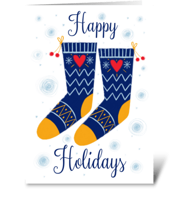 Christmas socks greeting card