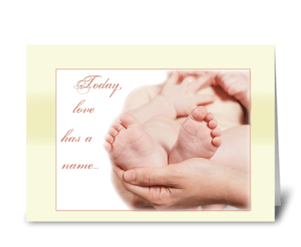 Baby Feet Congratulations, New Baby greeting card