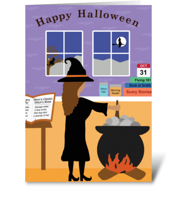 Halloween Witch's Brew greeting card