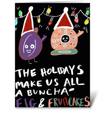 Fig & Fruitcakes greeting card