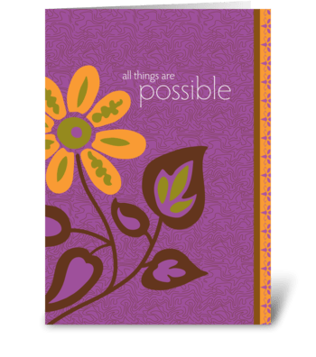 all things are possible greeting card