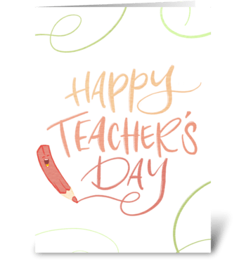 Happy Teacher's Day greeting card