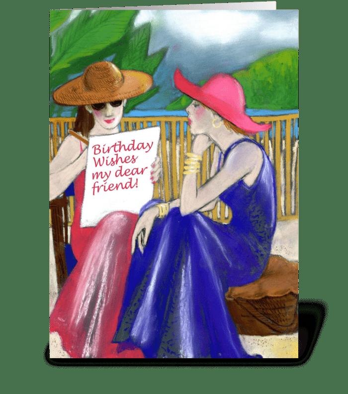 Birthday Wishes Dear Friend greeting card