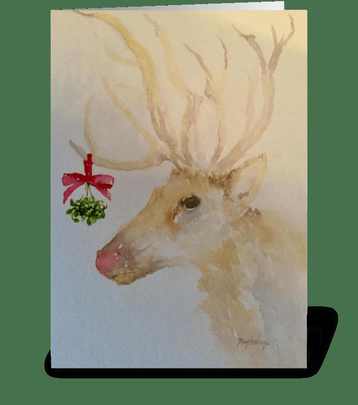 Mistletoe Kisses greeting card