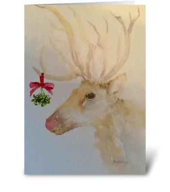Mistletoe Kisses greeting card