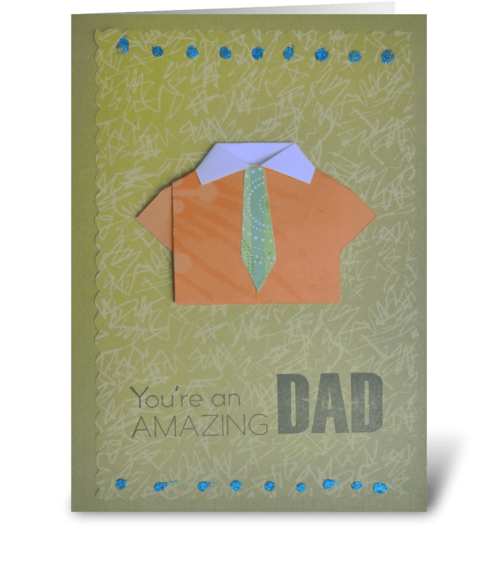 A shirt for the best dad! greeting card
