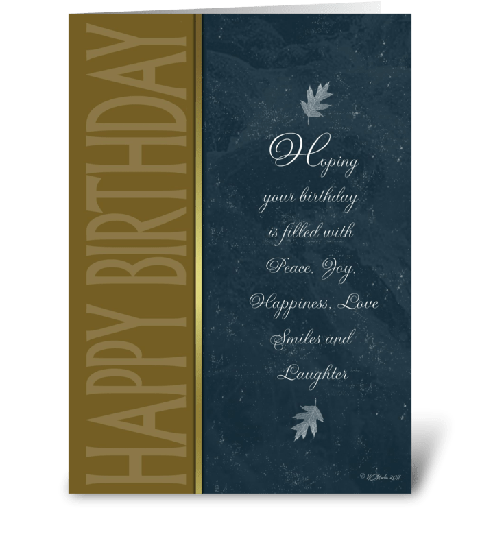 Formal Birthday Card greeting card