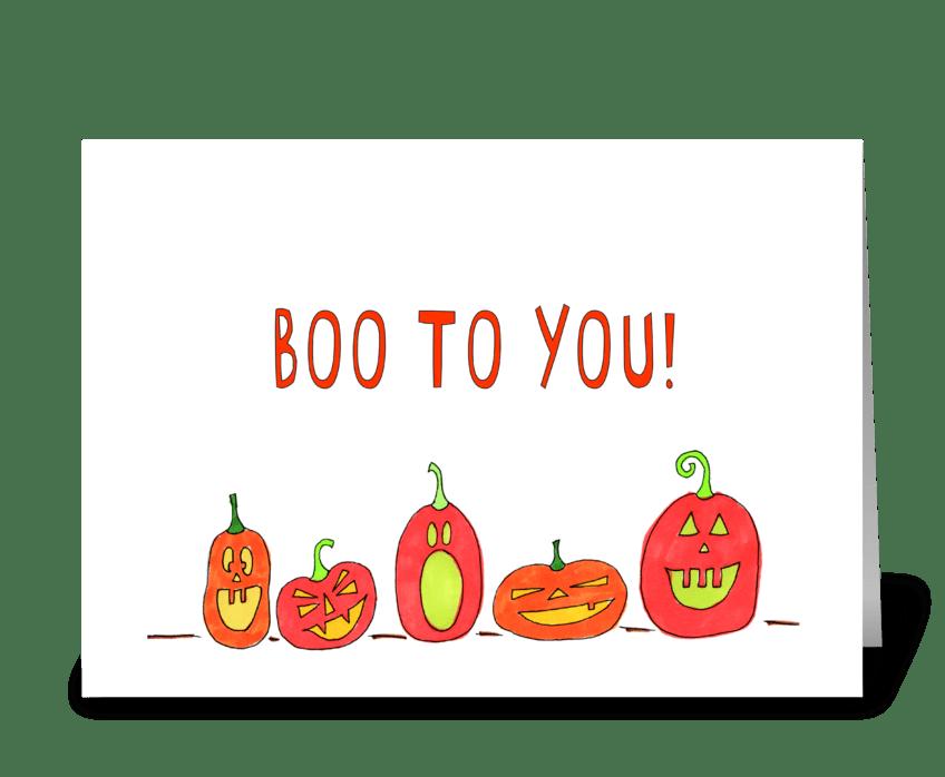 boo to you! greeting card