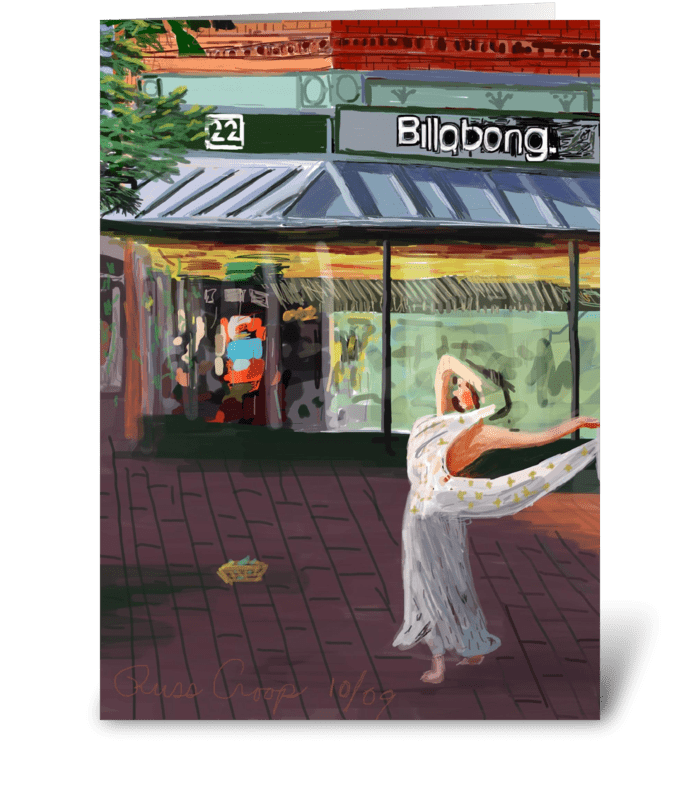 Dancing Girl greeting card