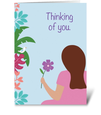 In my thoughts greeting card