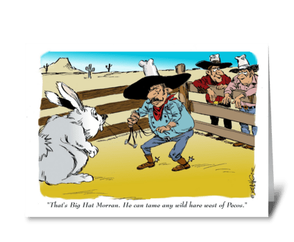 A tame Easter greeting. greeting card