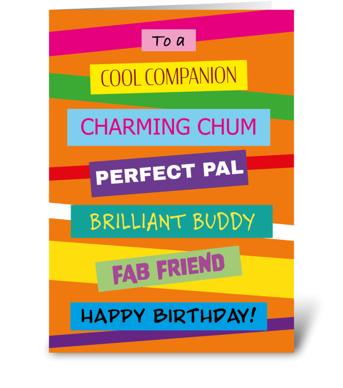 35 Stacked Friend Birthday Card greeting card