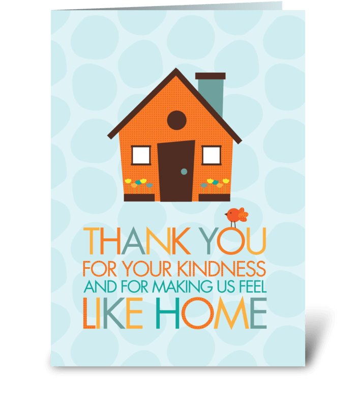 Kindness from your home greeting card