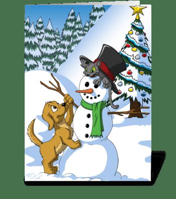Snowman Buddies greeting card