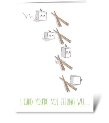 Get Well Soon Tofu greeting card