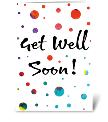 Get Well Soon Card greeting card