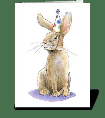 Rabbit Party Animal greeting card