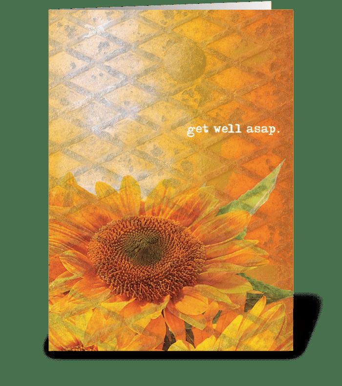 get well asap. greeting card