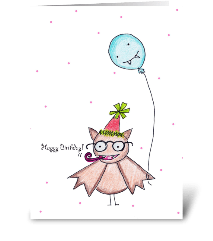 Batty Birthday greeting card