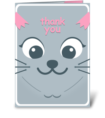 Thank You - Kitty greeting card