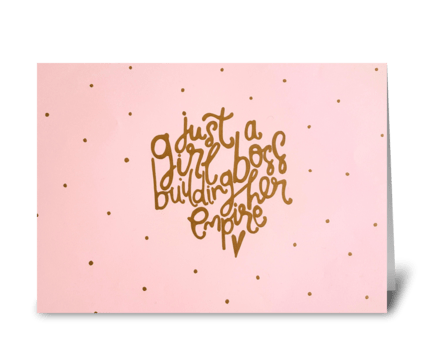 Girl boss greeting card