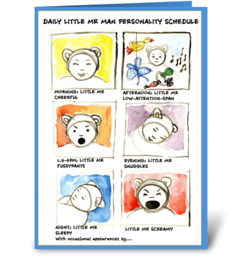 Father's day, baby boy greeting card