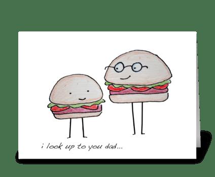 Hamburger Dad greeting card