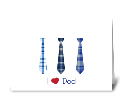 I Heart Dad! greeting card