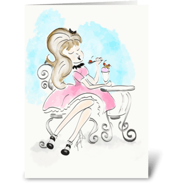 Sophisticated Ice-cream Sunday  greeting card