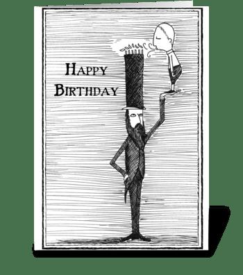 Tall Hat Birthday greeting card