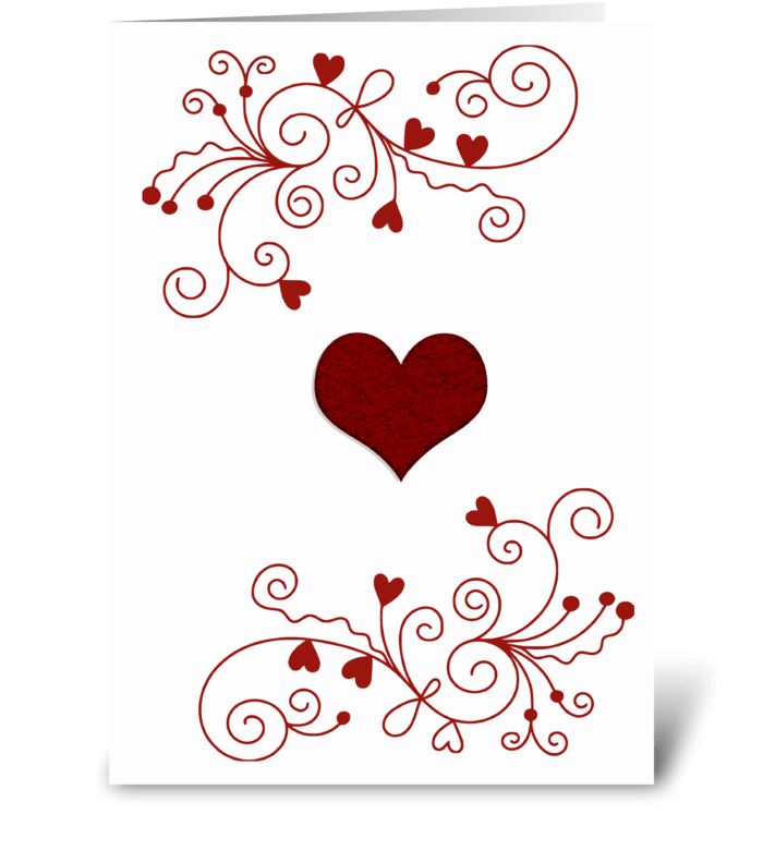 Red Minimalist Heart greeting card