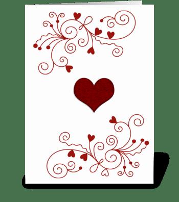 Red Minimalist Heart greeting card
