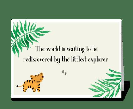 Baby Explorer greeting card