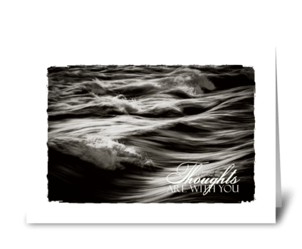 rough ocean sympathy card greeting card