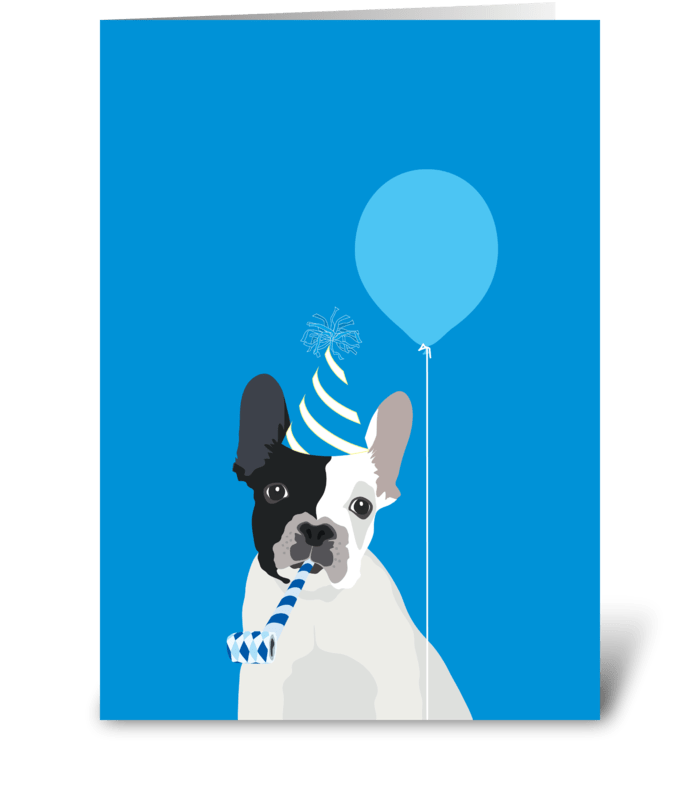 Frenchie greeting card