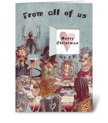 The Christmas dinner greeting card
