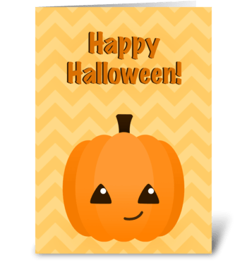 Cute Kawaii Jack o'Lantern  greeting card
