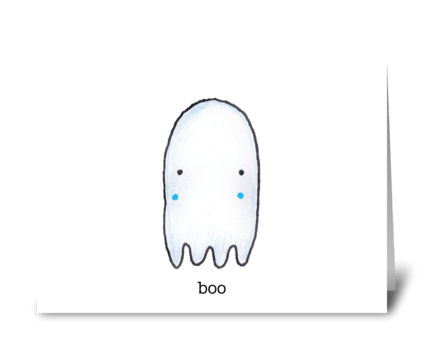 Boo the Ghost greeting card