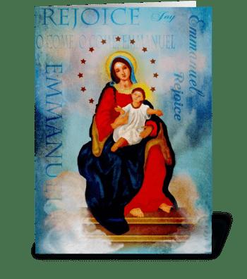 Rejoice Emmanuel  greeting card