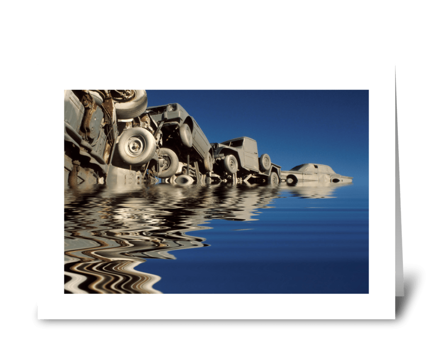 Pileup On Lake Michigan greeting card