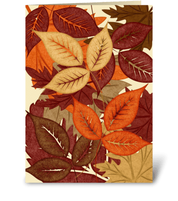 Autumn Leaves - Verse greeting card