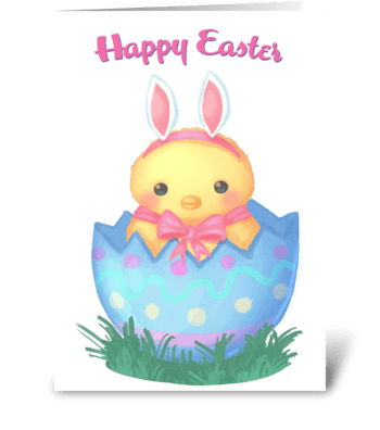 Easter Chicky greeting card
