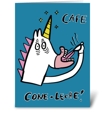 Cafe CONE Leche greeting card