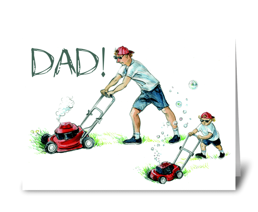 Just like dad greeting card