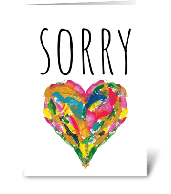 43 Sorry card greeting card