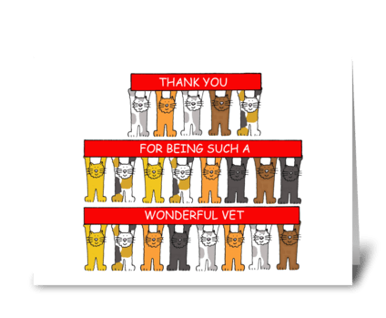 Thnak you to Wonderful Vet. greeting card